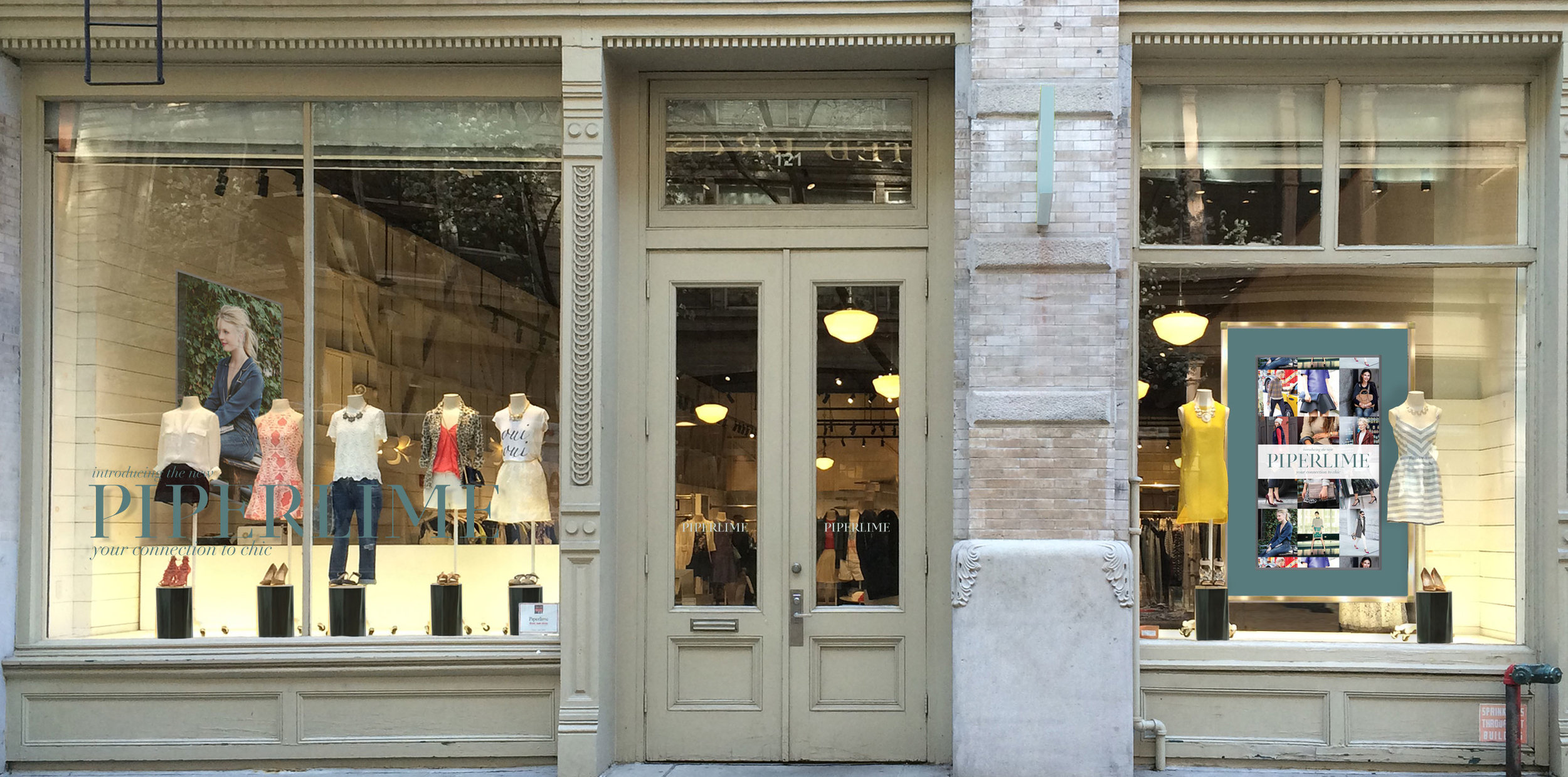 Soho Storefront. Right hand side showcased a live screen of our instagram feed.