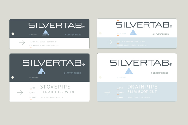 Silvertab Hangtags   Men's & Women's hangtags for the trend forward Silvertab line within the Levi Strauss brand.