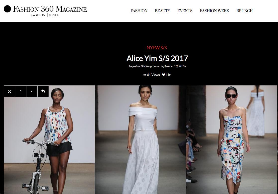 FASHION 360 MAG  –NYFW S/S Alice Yim S/S 2017