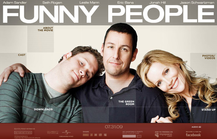 I think Funny People is one of Adam Sandler's best movies, it's a drama about comedians.