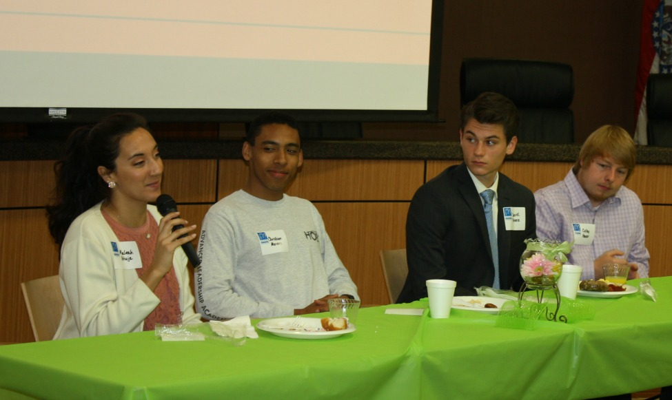 Student panelists at the legislative breakfast.