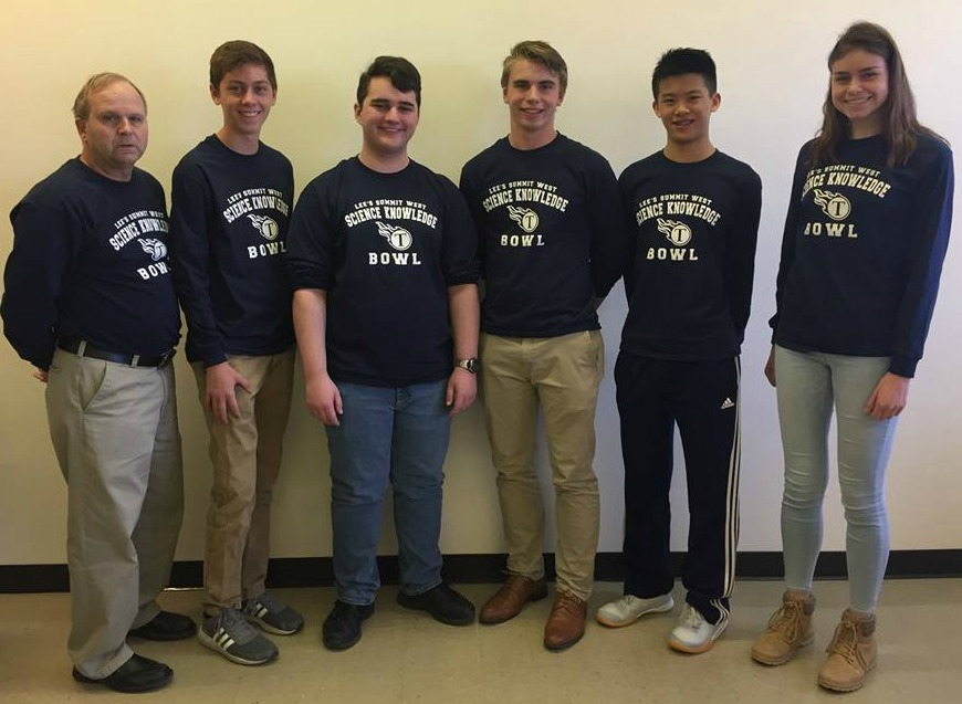 The third-place team (from left) Coach John Gray, Cole Perry, Joshua Foster, Alex Wood, Tim Nguyen and Marie.