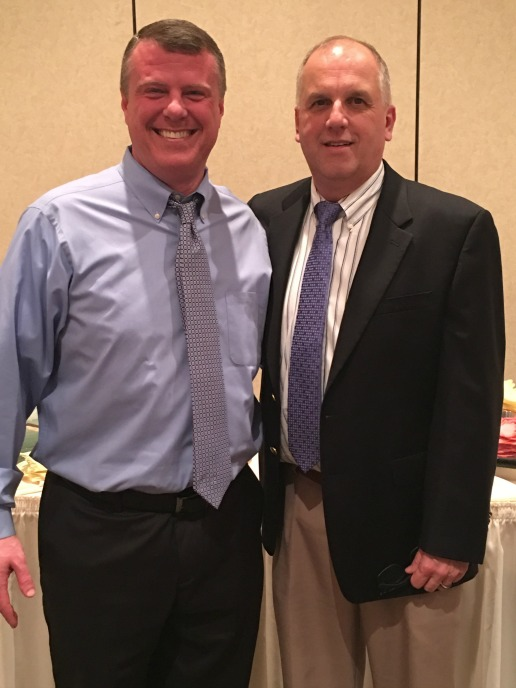 Michael Schieber and Kevin Harrison (right) at the awards banquet.