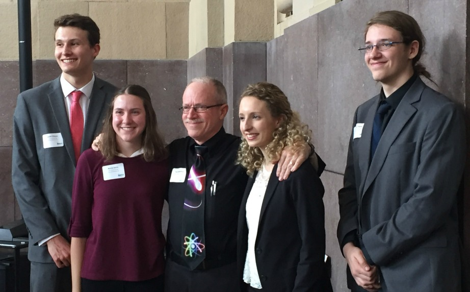 """Team 360 pictured from left with Dr. Paul Rutherford are Jacob O'Bryan, Kenzie Settle, Dr. Paul """"Doc"""" Rutherford, Connie Wentworth and Avery Payne."""