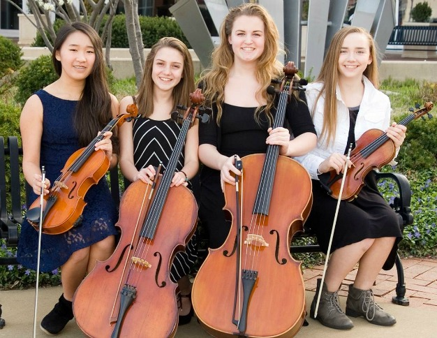 Students selected are (from left) Cara Cha, Fiona Martin, Katelyn Johnson and Sophia Hoffman.