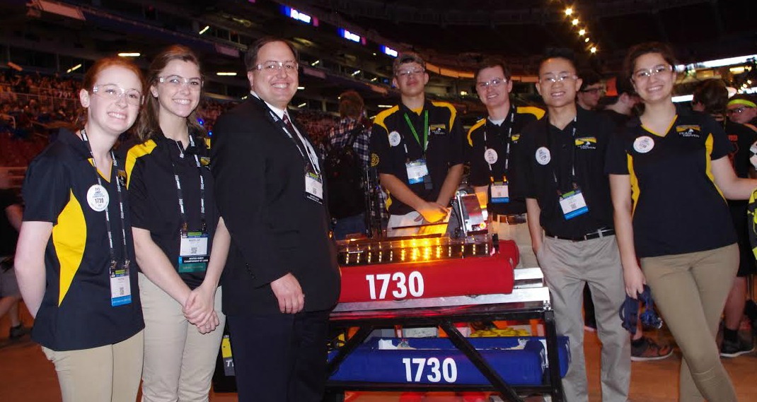 Several members of the LSHS team are pictured with Missouri Secretary of State Jay Ashcroft.
