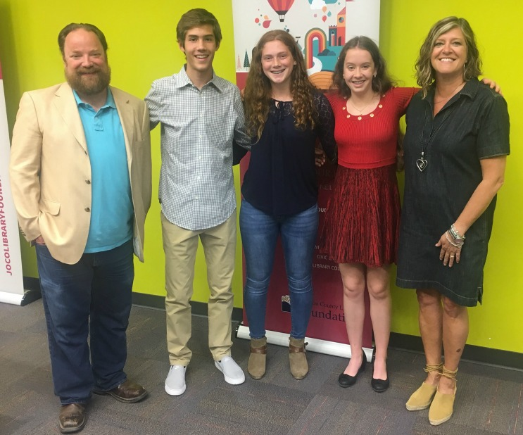 Mr. Rapport (far left) is pictured with students (from left) Jack, Jillian, Robin and Mrs. England.