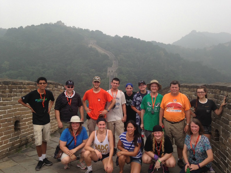 LSWHS Team Titanium members visit the Great Wall of China.