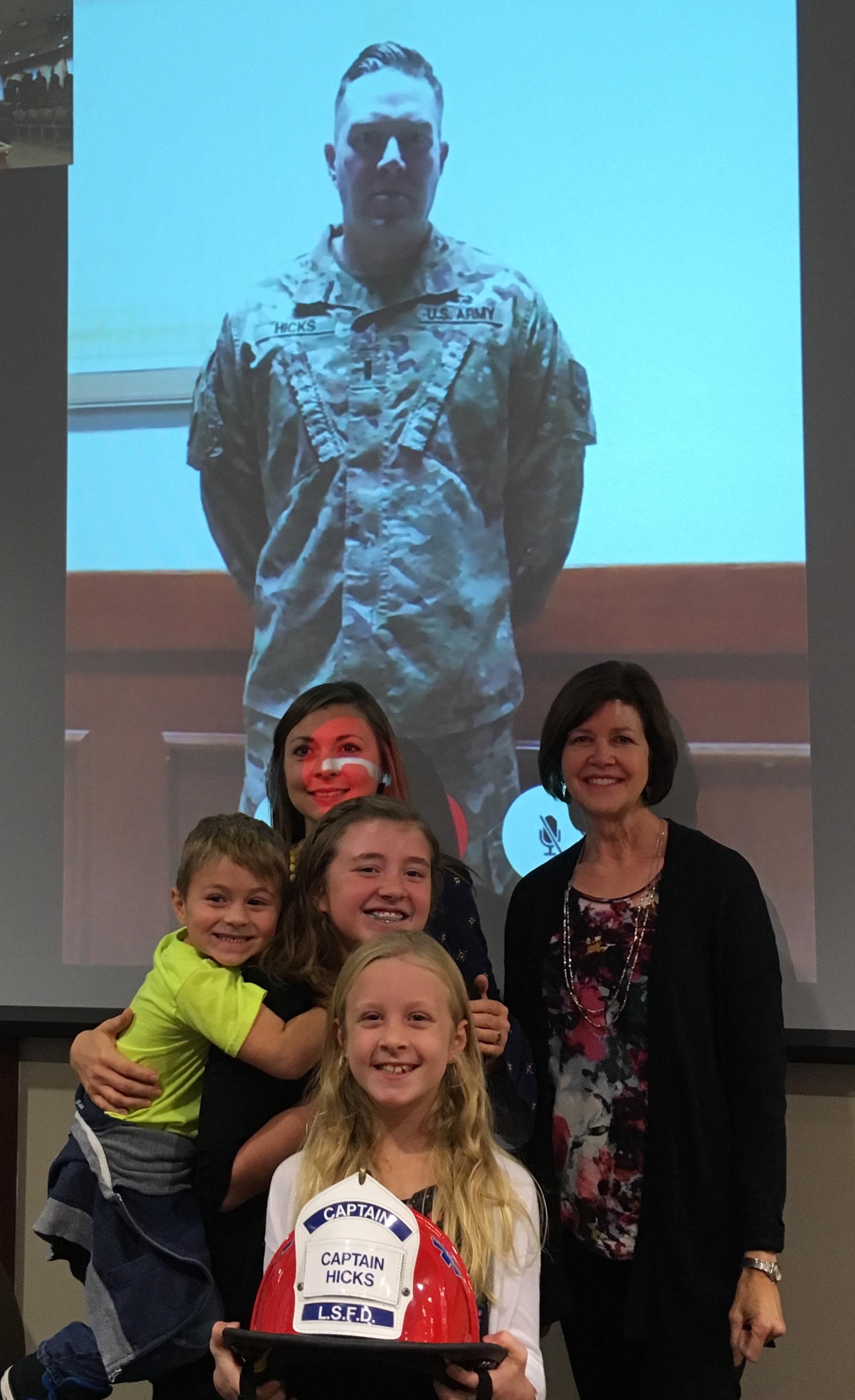 Captain Ben Hicks and family.