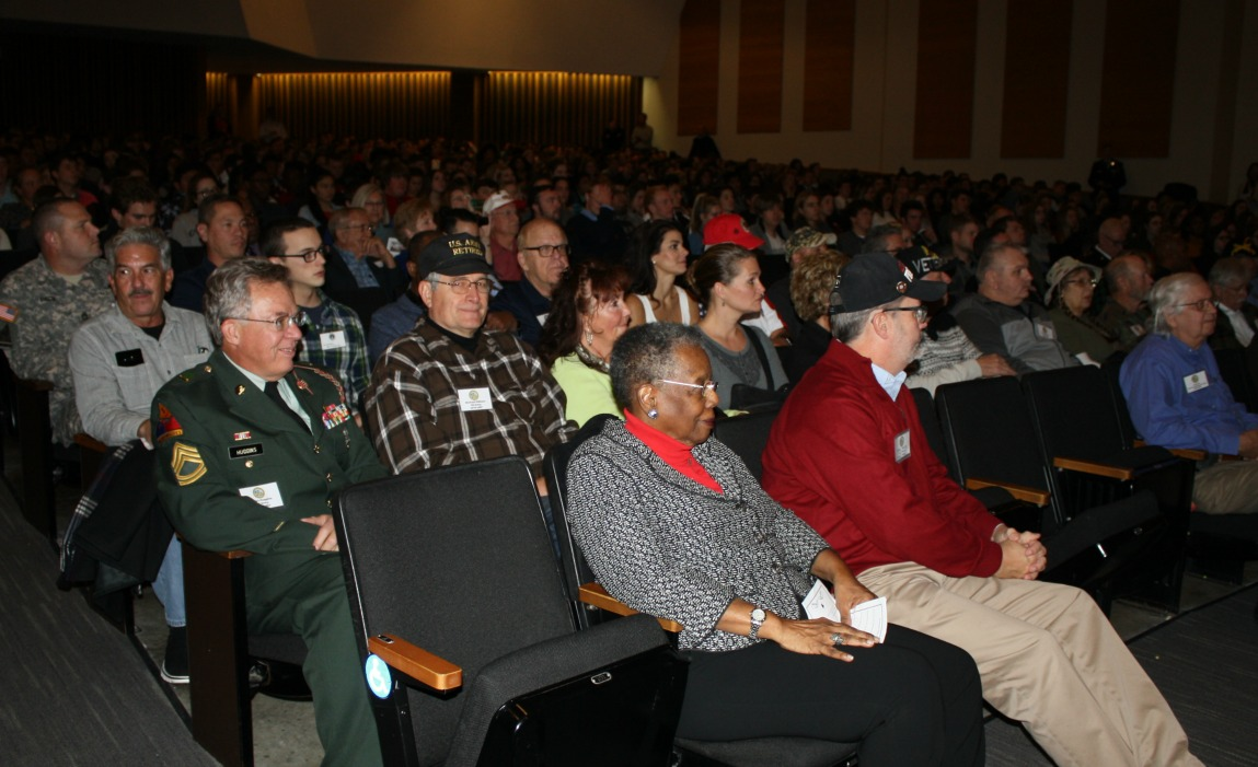 Veterans were honored at two assemblies held at LSHS.
