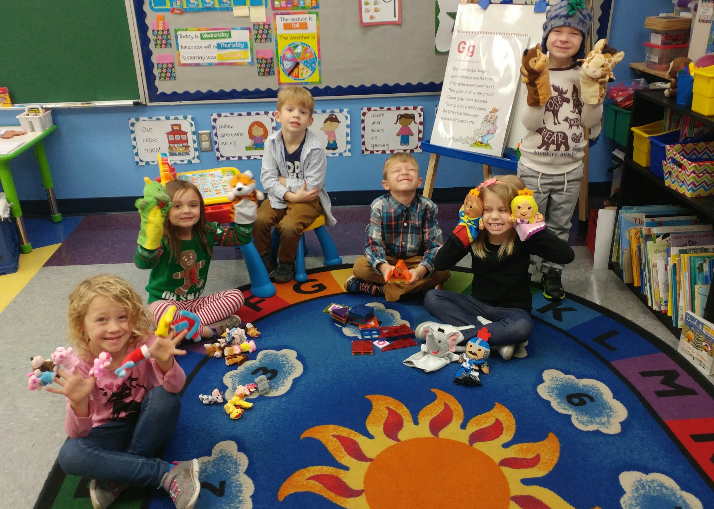 """SCA Early Education Teacher Mrs. Holli Roderick recently collected $359 in one-dollar bills for her classroom during the Mavericks' """"Dash for Cash"""". Pictured is her classroom with some of their new educational toys and equipment she purchased with the dash cash."""