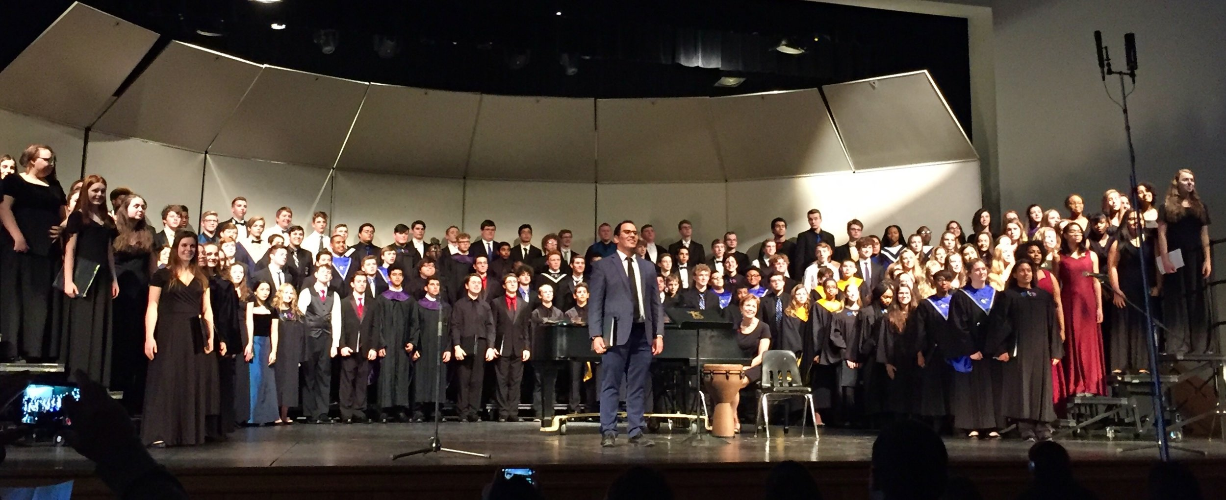 Twelve SCA High School Choral Students were selected to perform with the KC Metro Honors Choir, performing at Lee's Summit High School.