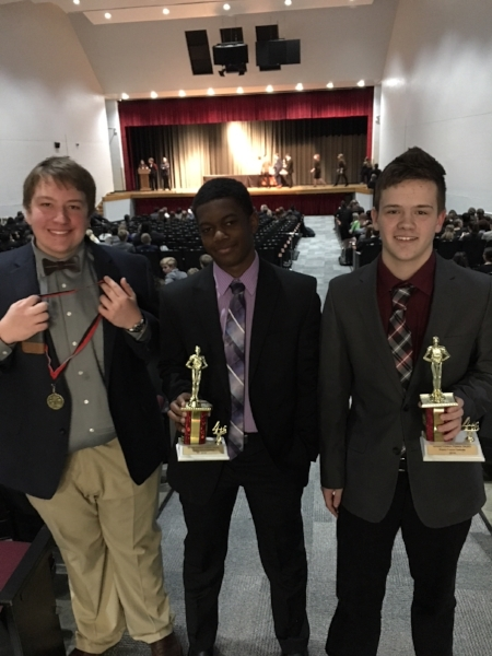 SCA Debaters Ryan Wagy took 7th out of 48 competitors in Lincoln Douglas Debate, and sophomores Bryce Ferguson and Austin Wilson took 4th out of 49 teams in Public Forum Debate at from the Winnetonka High School Debate Tournament.