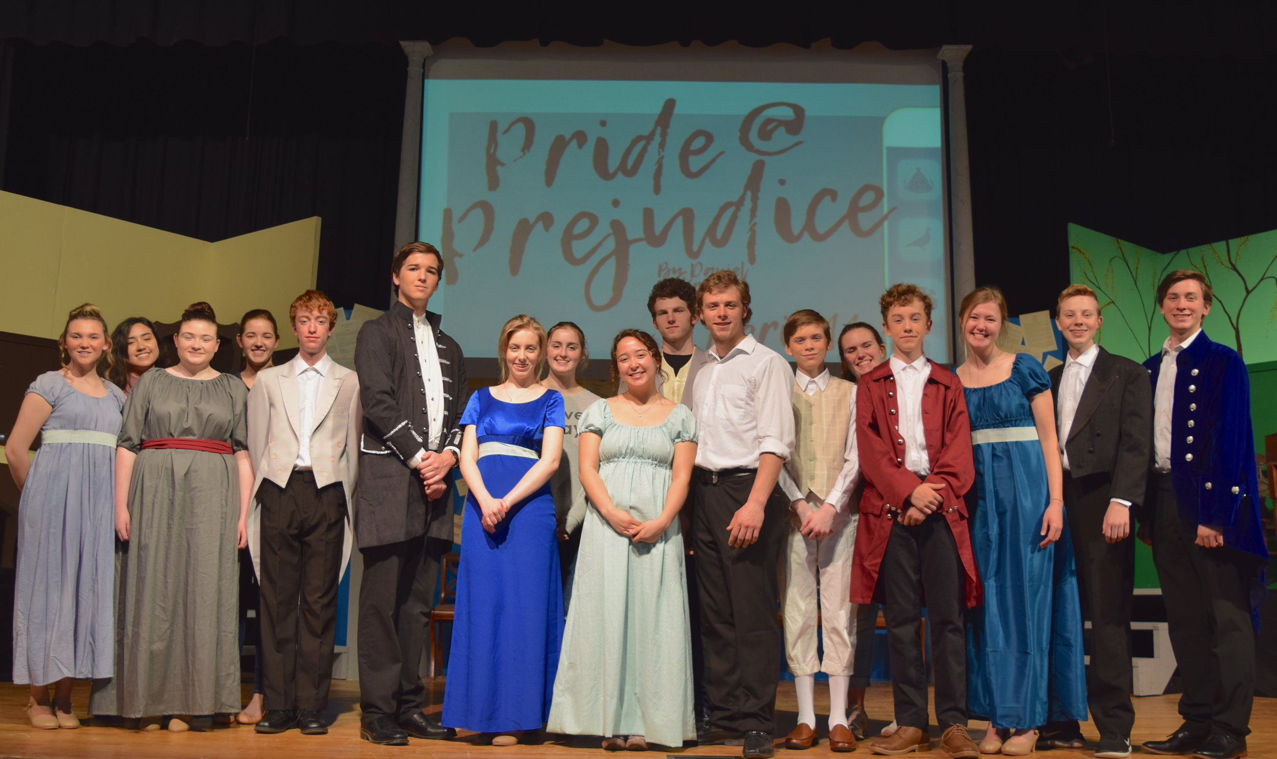 "he cast of Summit Christian Academy's Theatre Department invites you to their performance of ""Pride @ Prejudice"" at 7 p.m. this Thursday - Saturday (April 11-13) on the Summit Christian Academy Stage (1450 SW Jefferson Lee's Summit, MO 64081). ( Photo courtesy Summit Christian Academy )"