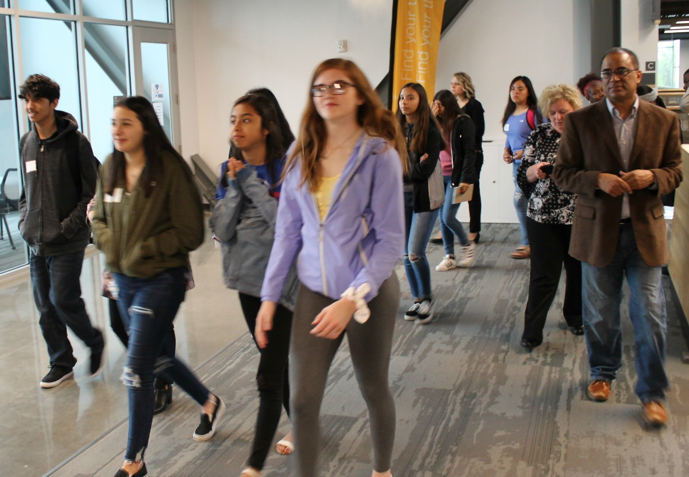 Students from 20/20 Leadership tour the Missouri Innovation Campus as part of a two-day event hosted by the University of Central Missouri Lee's Summit.  (Photo courtesy UCM-Lee's Summit)
