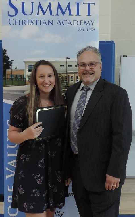 SCA Senior Faith Dickey was the recipient of the Lee's Summit Chamber of Commerce Scholarship. ( Photo courtesy Summit Christian Academy)