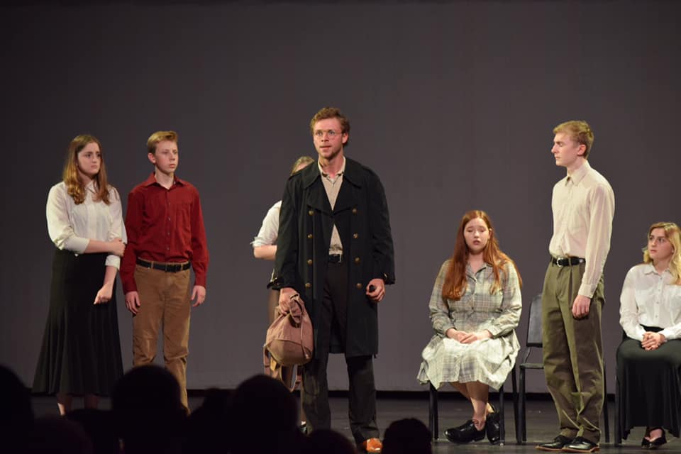 SCA's  Korczak's Children  was nominated for Outstanding Performance of a Play and performed a short scene from the play at the 2018-19 Cappies Gala held at Oak Grove High School. ( Photo courtesy Summit Christian Academy )