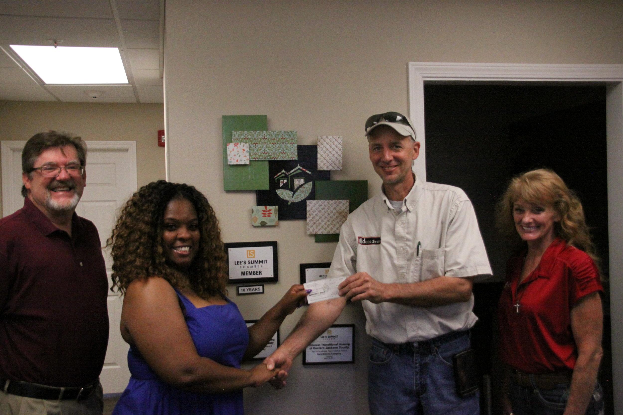 Hillcrest Transitional Housing - Door Systems Donation.JPG