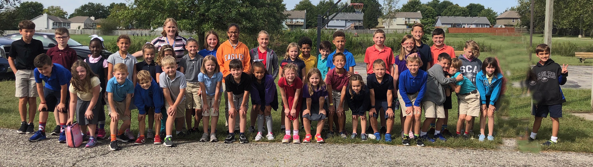 """SCA first through fifth grade students were recently honored as """"Reader Leaders"""" at an outdoor luncheon. The school had 39 students that achieved this honor. ( Photo courtesy Summit Christian Academy )"""