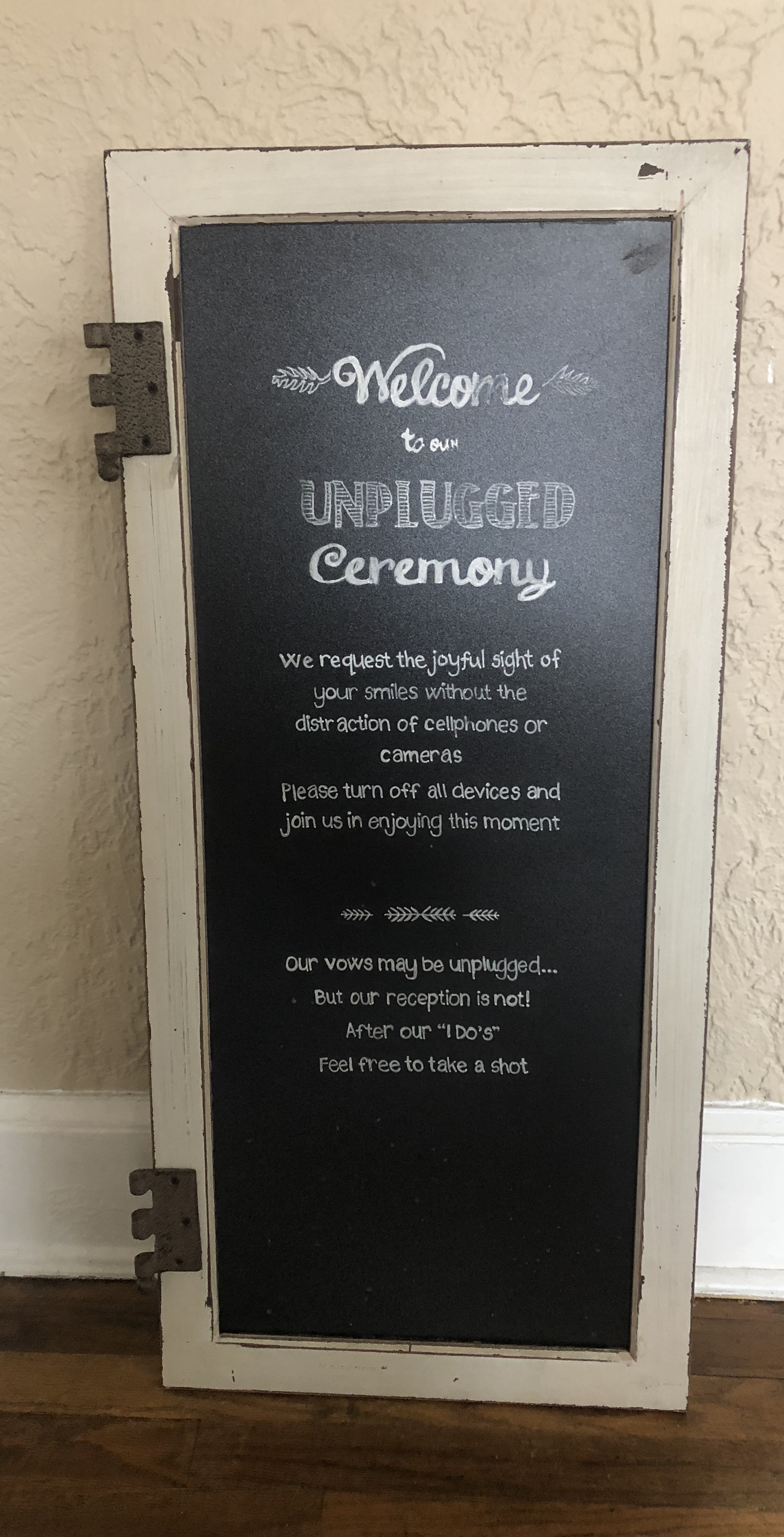 Unplugged Ceremony Sign -
