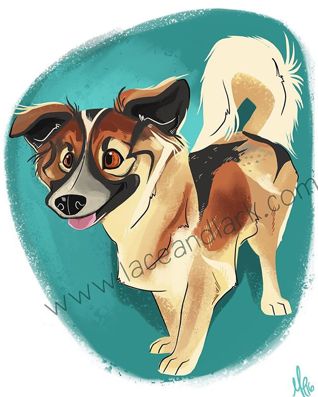 The adorable and unique @misspennynyc was so much fun to draw! So many different coat patterns!  Message me to start your own pet portrait today!  #illustration #art #cartoon #digital #digitalart #digitalillustration #dogart #instaartist #instaart #dog #mutt #mixedbreedpurelove #muttsofinstagram