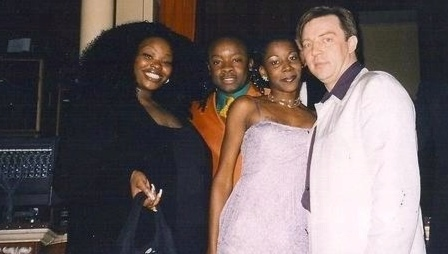Sarah and Kwame from D Influence with Shania and Paul at the MOBO Awards.