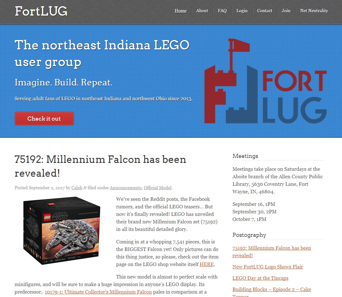 Logo in use on the  FortLUG  website. Website not designed by me. Go check it out!