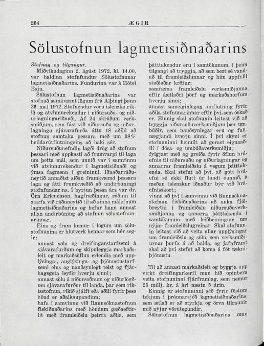 Ægir 1972 - Sölustofnun Lagmetis stofnuð - bls 264_001.jpg