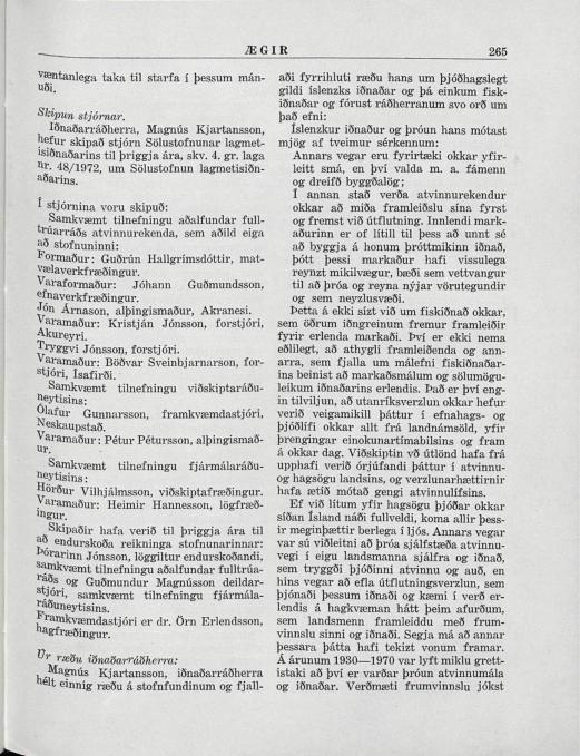 Ægir 1972 - Sölustofnun Lagmetis stofnuð - bls 265_001.jpg