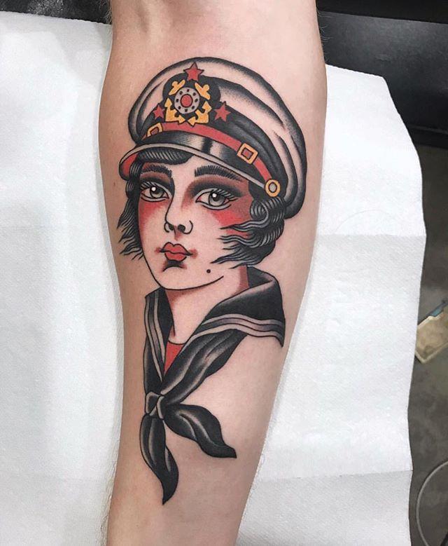 Tattoo by @bradleykinneytattooer #danapointtattoo #danapointtattoos #pch #danapoint #traditionaltattoo