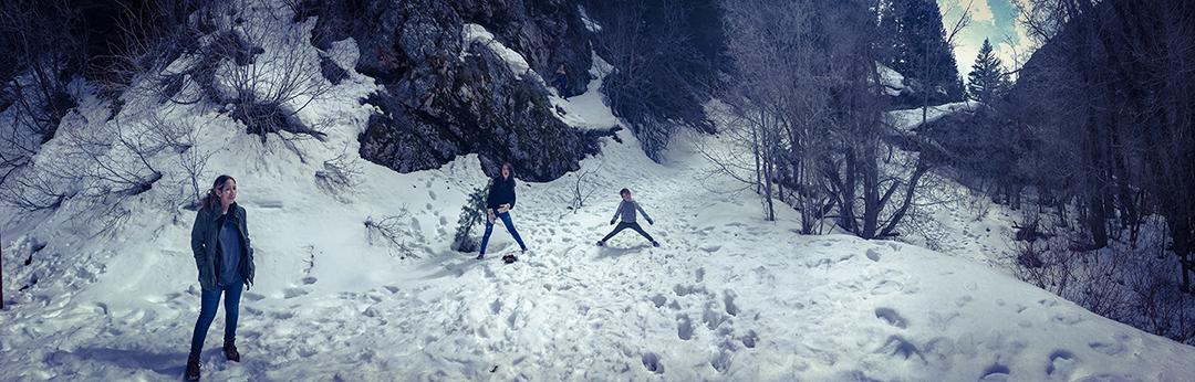 My family in Utah Snow
