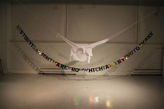 Sculpture installation, Happy Birthday Stephen, 2012, source, site de l'artiste.
