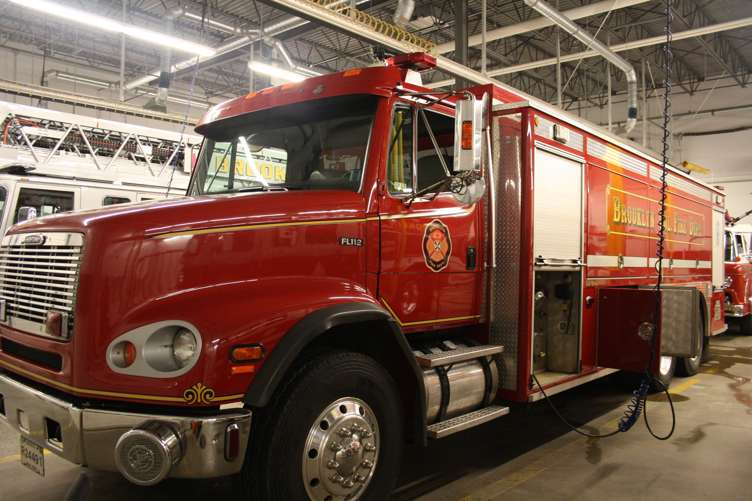 Tanker two is a 2002 frightliner FL112, with an 840 pump and 3200 gallons of water.