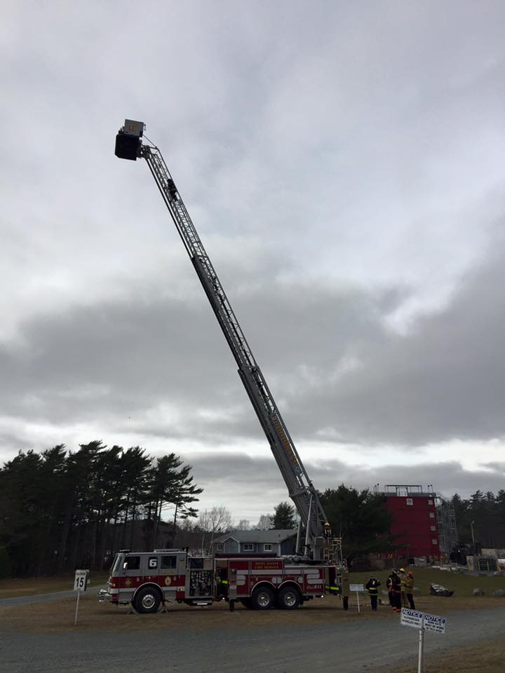 Tower 6 at a event at the Nova Scotia Firefighter School.
