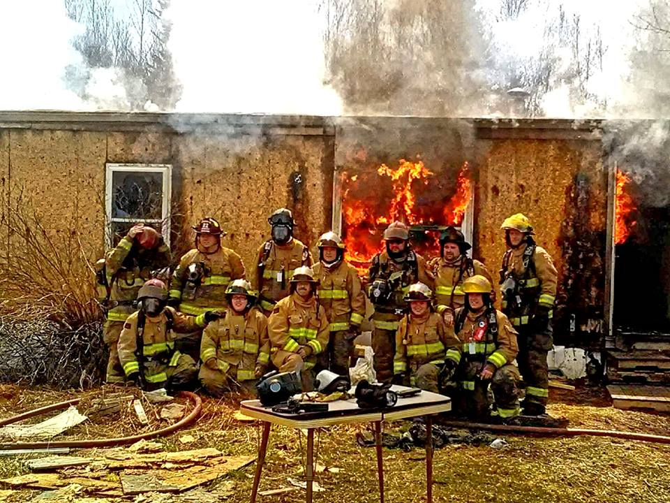 The BFD crew at a controlled burn/training event. Spring 2016