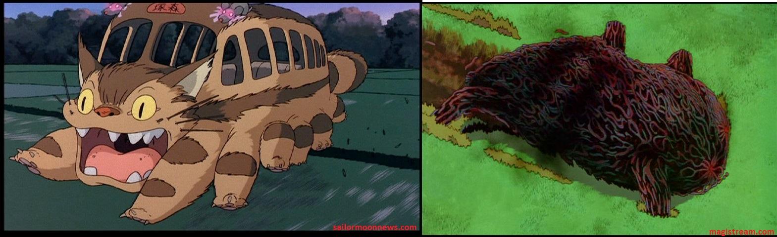 Catbus vs demon boar