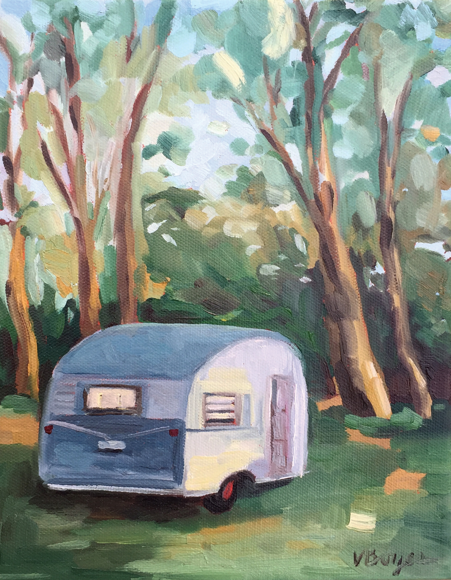 Camper in the Woods