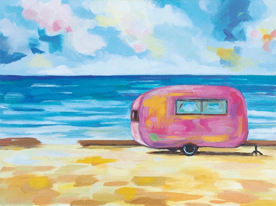 San-O Pink Camper