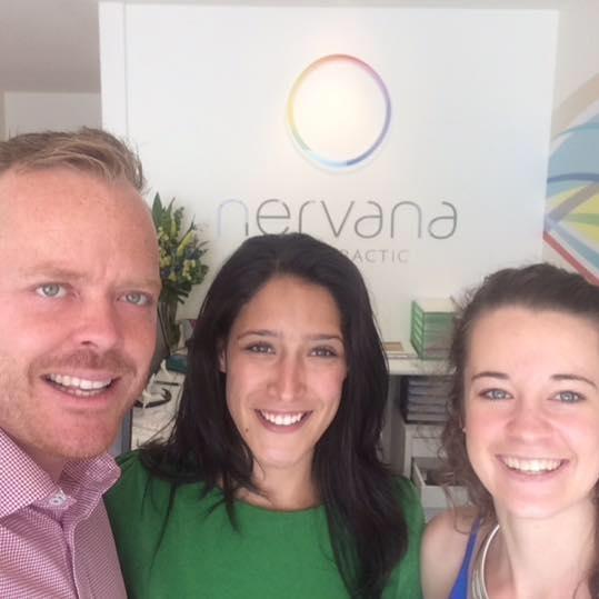 Dr Blake Horner, Alannah Rosewood and Veronica Horner from Nervana Chiropractic Applecross.