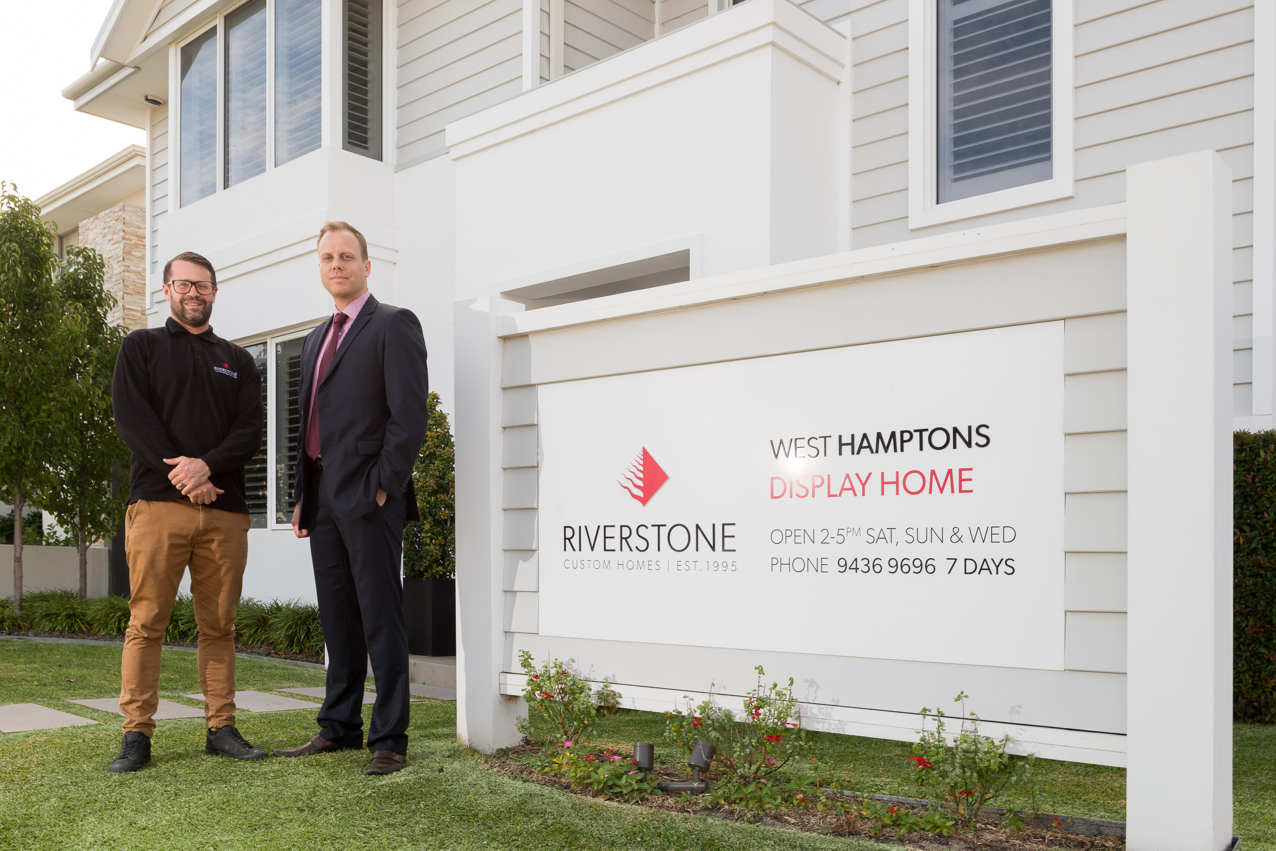 Tim Marshall and Shannon Davies at the West Hamptons display home.