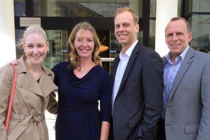 Christie-Lee Davies, Liz Dawes, Shannon Davies and Scott Dawes.