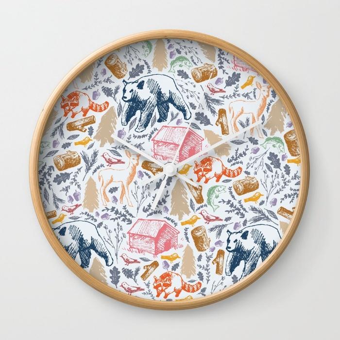 rustic-pattern-nxa-wall-clocks