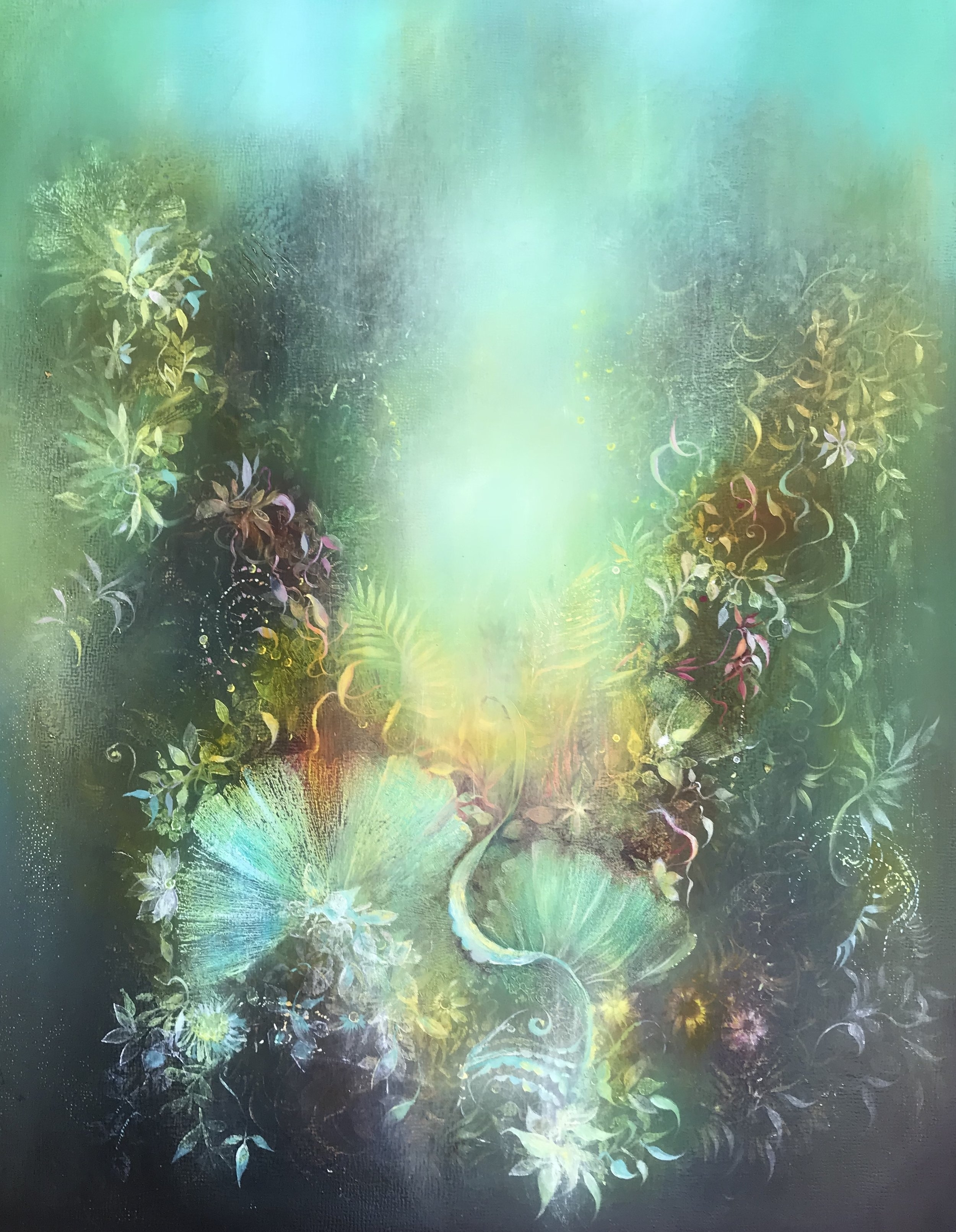 Corals 14x11 oil on panel. (sold)