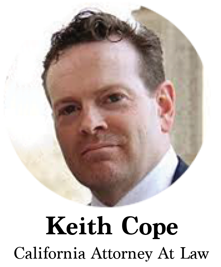 Keith Cope               California Attorney at Law