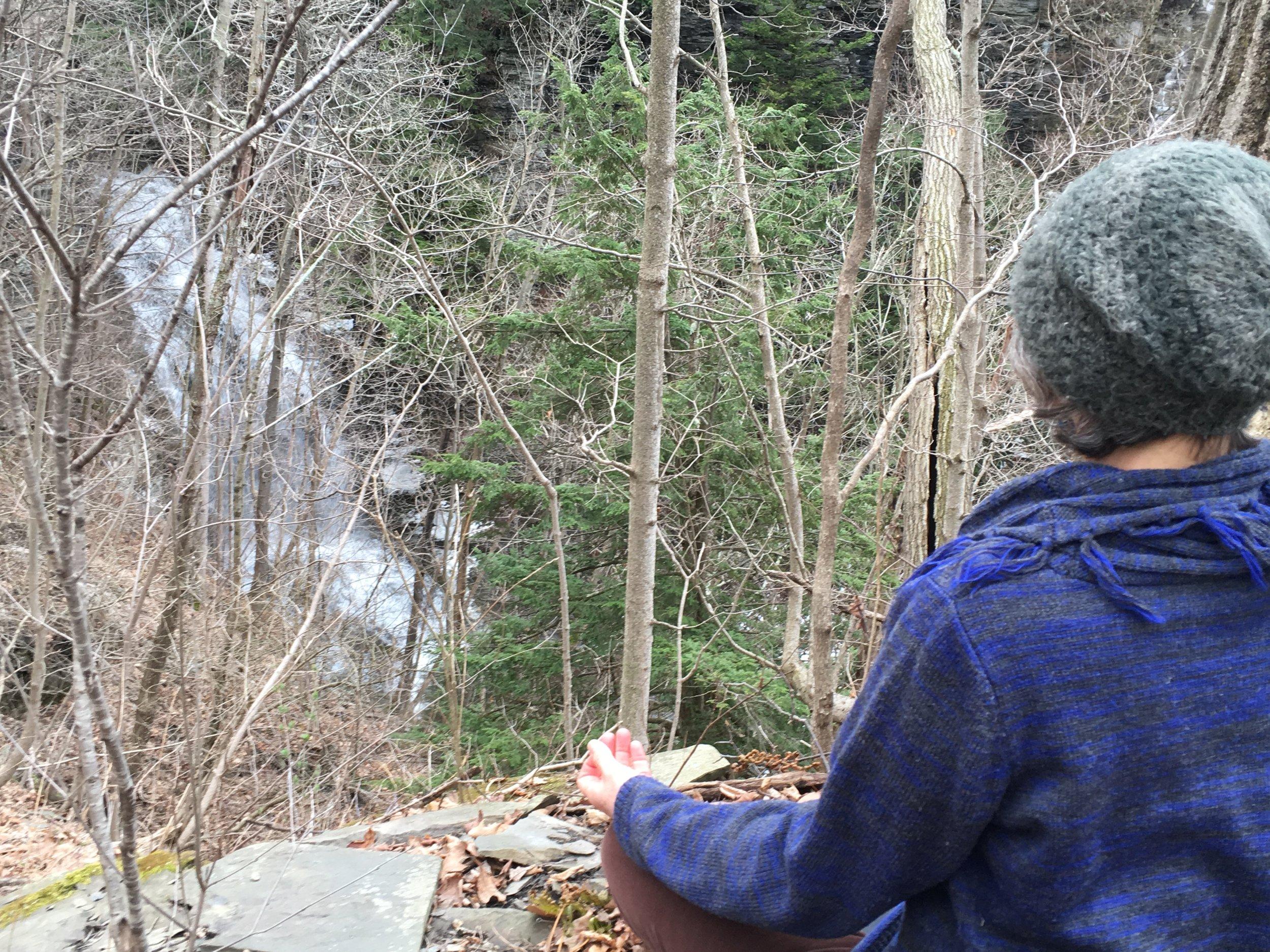 kelly meditating