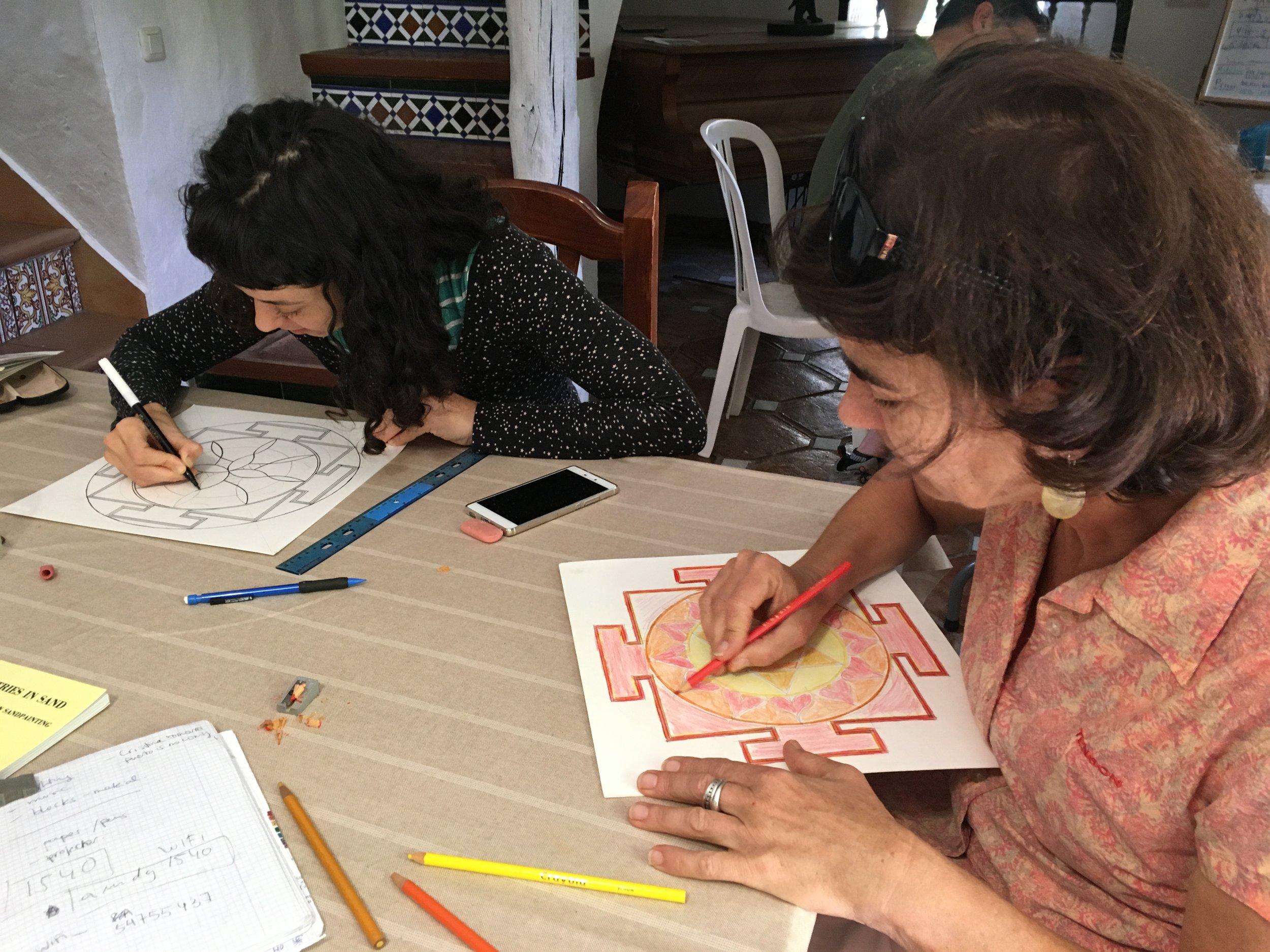 yantra drawing