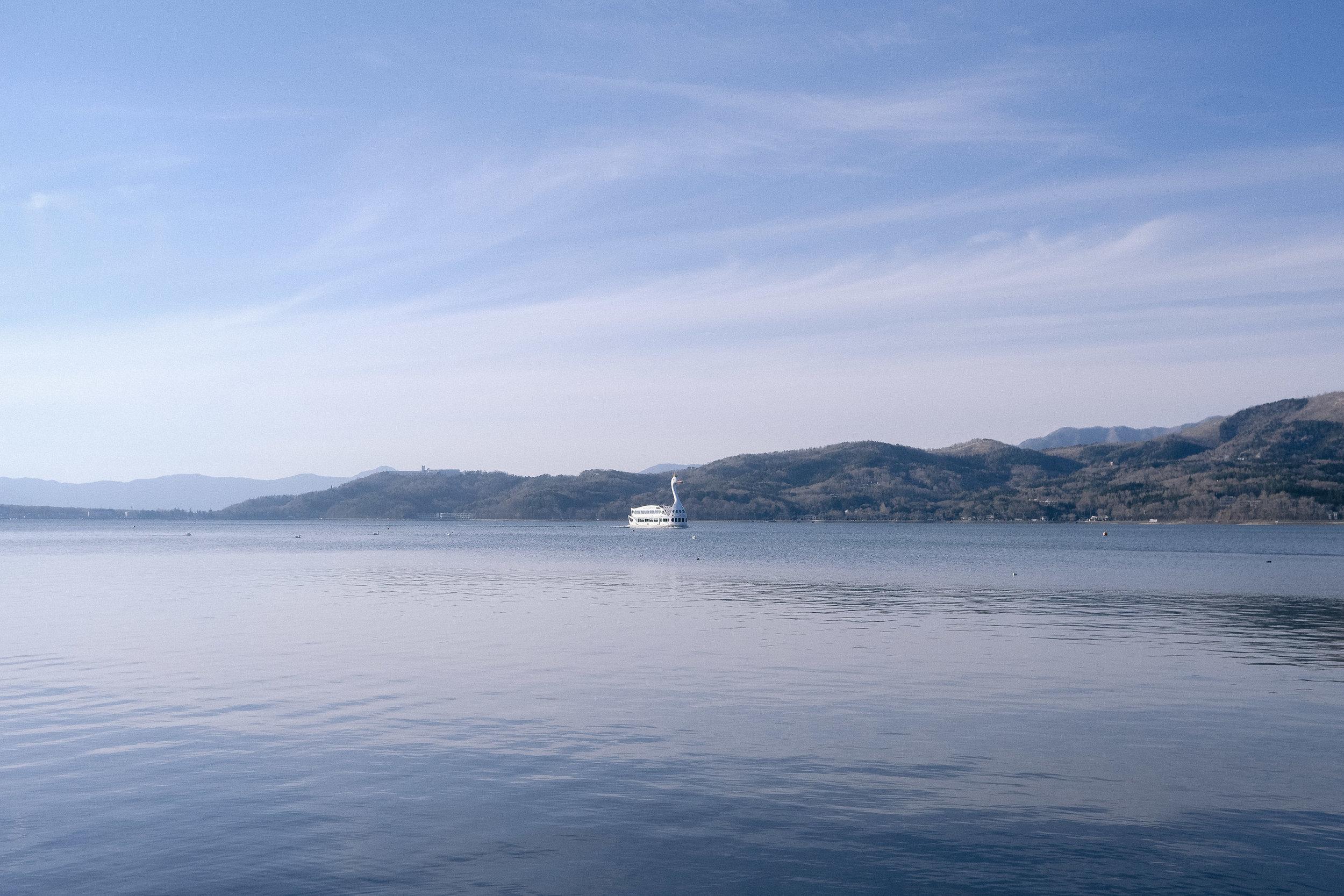 Yamanaka Lake, Japan.