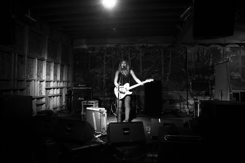 Hayley Couper performing at the Grand Poobah, Tasmania last year. Image via Facebook.