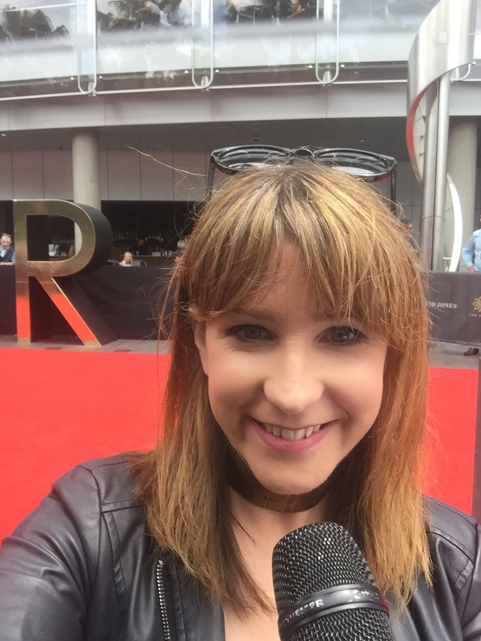 Danielle McGrane on The Red Carpet. Image supplied