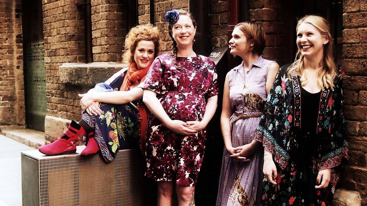 Katie Noonan, Angie Hart, Sam Buckingham and Melody Pool for the album Songs That Made Me (2014), image via Newcastle Herald